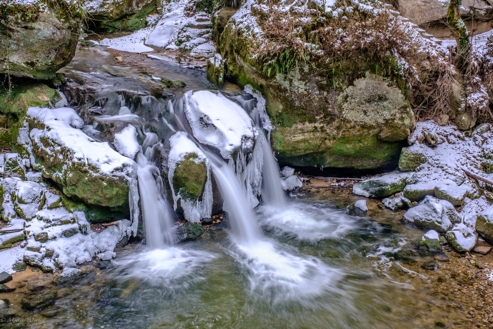 Ein Wintertag im Müllerthal, in Luxemburg